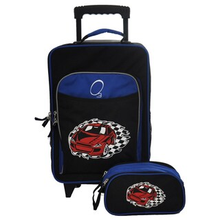 Obersee Kids Racecar 2-piece Carry On Upright and Toiletry Bag Set