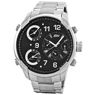 JBW Men's 'G4' Multi Time Zone Lifestyle Diamond Watch