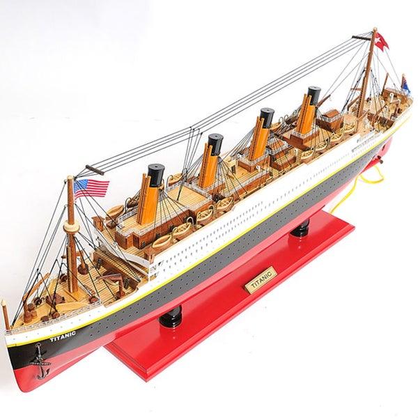 Shop Old Modern Handicrafts Titanic Model Ship With LED