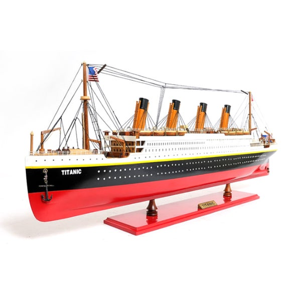 Old Modern Handicrafts Painted Large Titanic Model Ship