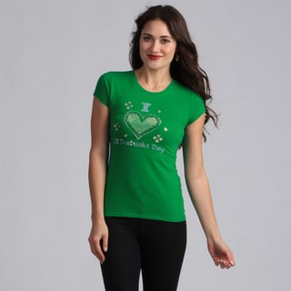 Women's Green 'I Love St. Patricks Day' T-shirt