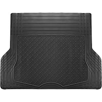 OxGord Black Rubber 56-inch Long x 43-inch Wide Trimmable Cargo Trunk Mat