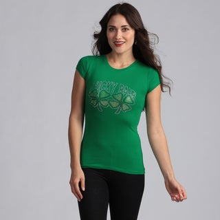 Women's Green 'Lucky Pair' T-shirt