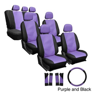 Oxgord Synthetic Faux Leather 23-piece Truck and Van Seat Covers