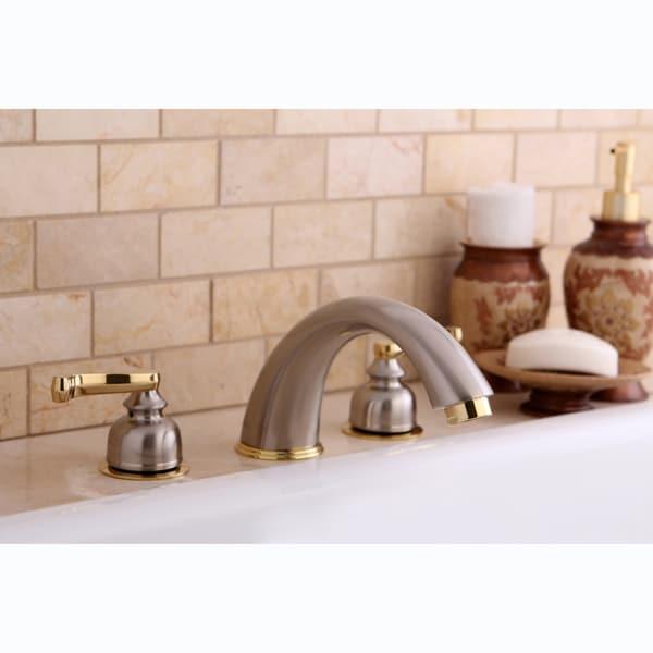 Satin Nickel/ Polished Brass Roman Tub Filler