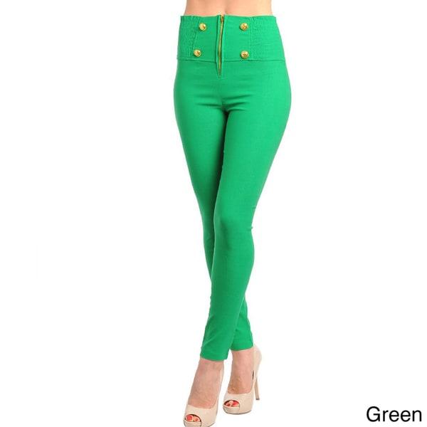 Stanzino Women's Colored High-waist Skinny Fit Pants