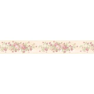 Brewster Mauve Rose Border Wallpaper