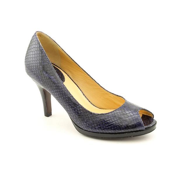 Cole Haan Women's 'Carma Ot.Air.Pump' Navy Blue Animal Print Dress Shoes