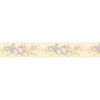 Brewster Pastel Rose Border Wallpaper
