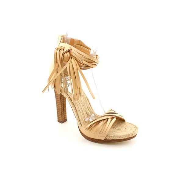 Carlos Santana Women's 'Villa' Beige Leather Sandals