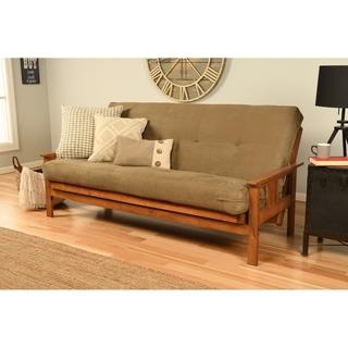 queen size futon frame only item includes clay alder home kern fullsize futon frame and mattress set shop hansen 8inch gel memory foam
