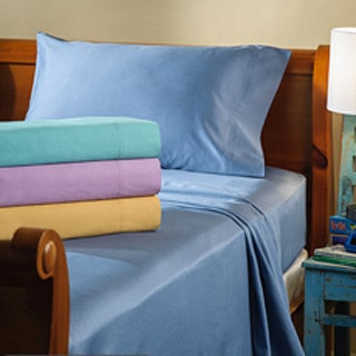300 Thread Count Bright Cotton Solid Sheet Set (Option: Blue)