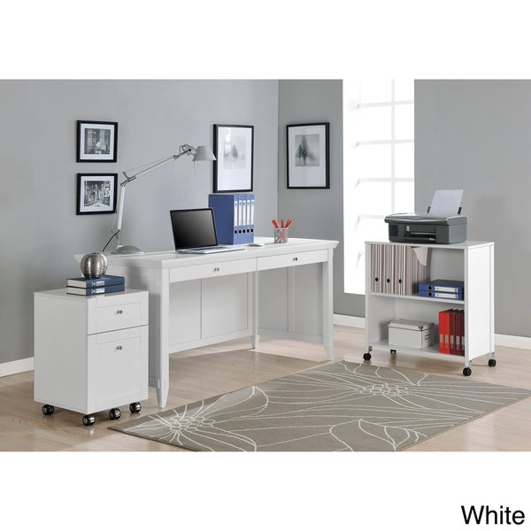 Altra Amelia Desk with Mobile Storage Cube and File