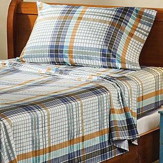 Montana Plaid 300 Thread Count Cotton Sheet Set