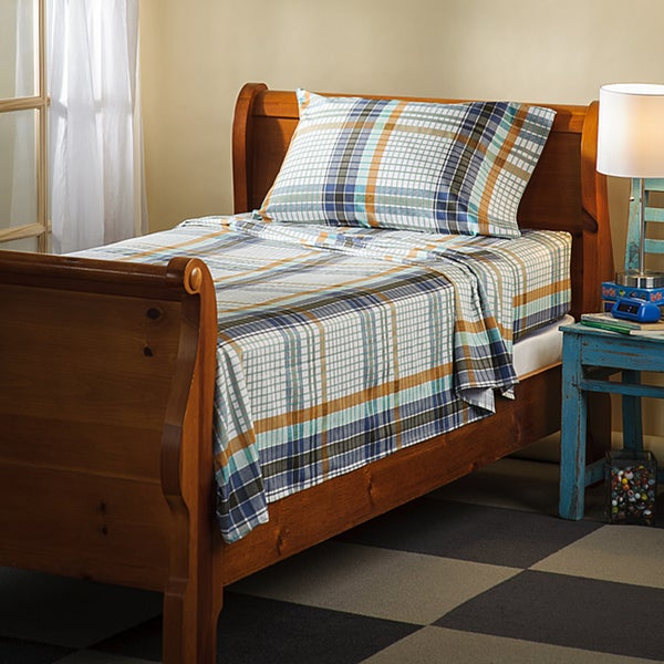 Montana Plaid 300 Thread Count Cotton Sheet Set