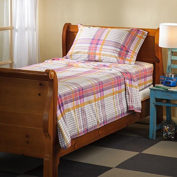 Sierra Plaid 300 Thread Count Cotton Sheet Set