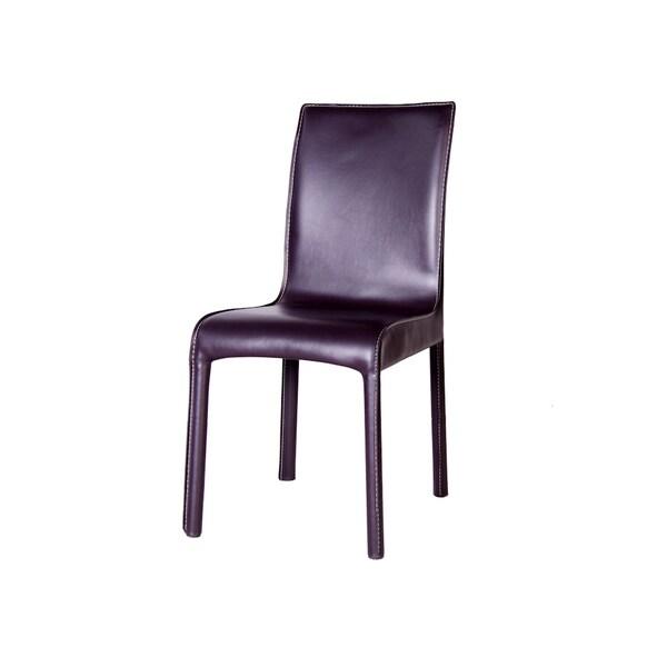Creta Chocolate Leather Dining Chair