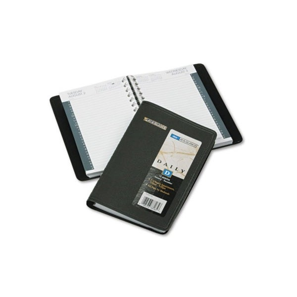 2015 Recycled Black Daily Appointment Book (4 7/8 x 8)