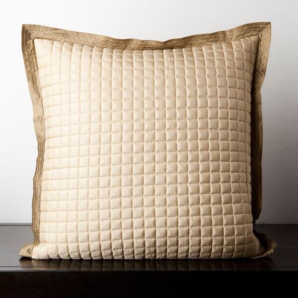 Cairine Beige Quilted 22x22-inch Decorative Pillow