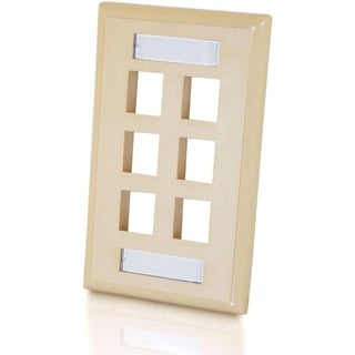 C2G 6-Port Single Gang Multimedia Keystone Wall Plate - Ivory