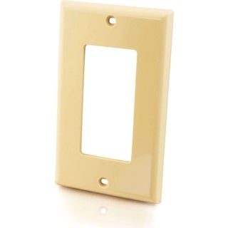 C2G Decorative Style Cutout Single Gang Wall Plate - Ivory