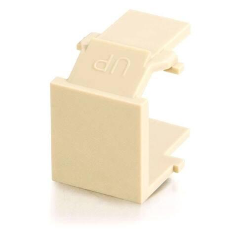 C2G Snap-In Blank Keystone Insert Module - Ivory