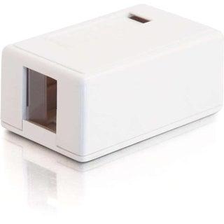 C2G 1-Port Keystone Jack Surface Mount Box - White
