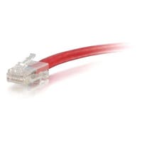 C2G-1ft Cat5e Non-Booted Unshielded (UTP) Network Patch Cable - Red