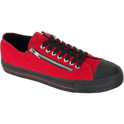 Men's Demonia Deviant 06 Red Canvas/Black