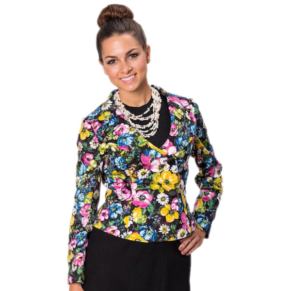 Grace Gallo New York Women's 'Angela' Floral Tailored Jacket