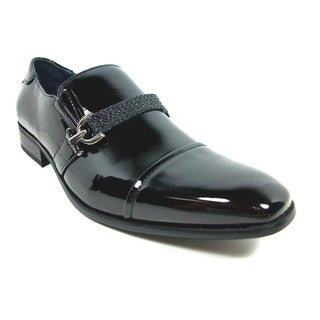 Delli Aldo Men's Patent Leatherette Slip-on Dress Shoes