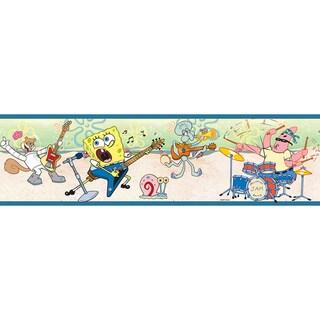 Brewster Multicolor Sponge Bob Border Wallpaper
