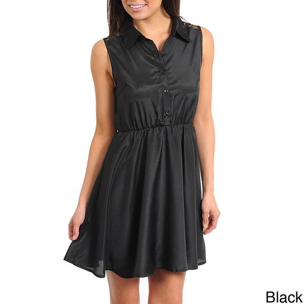 Stanzino Women's Sleeveless Collared Casual Dress
