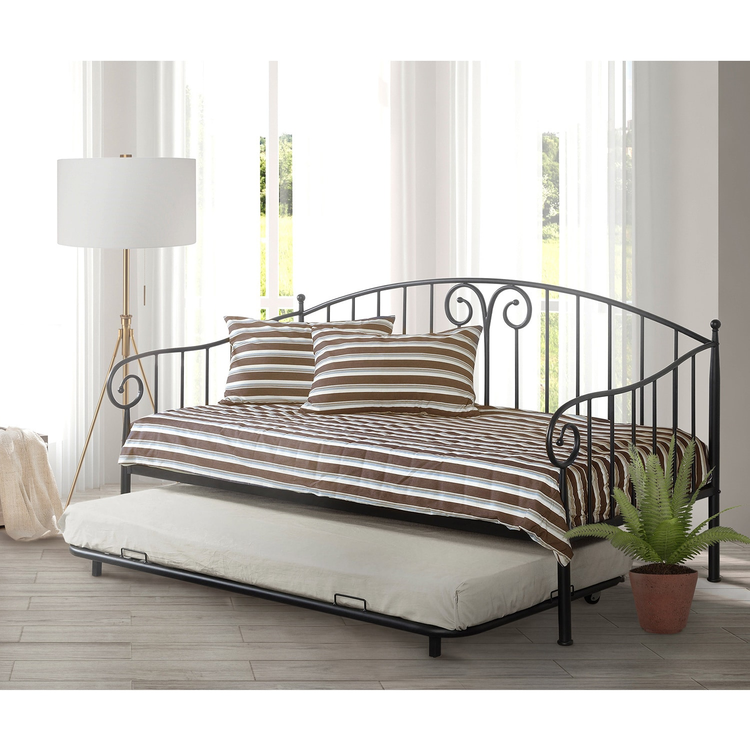 Furniture of America Traditional Link Spring Wrought Iron...