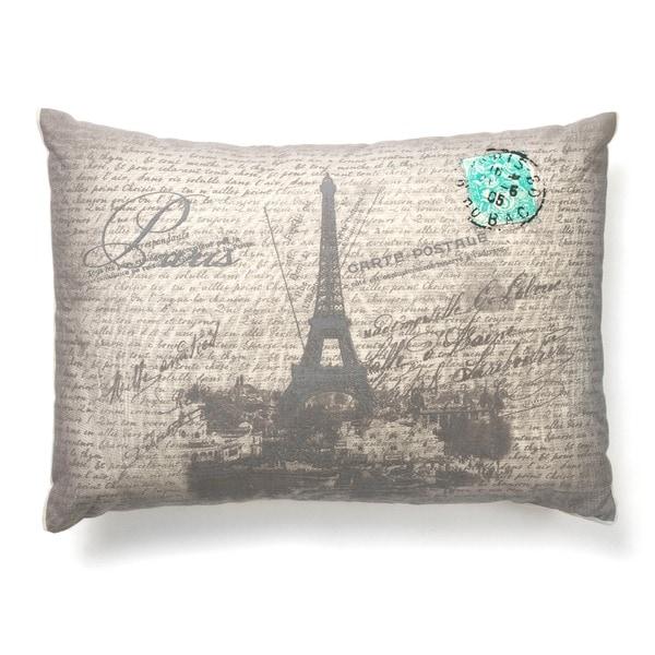 Eiffel Tower Boudoir 20-inch Decorative Throw Pillow