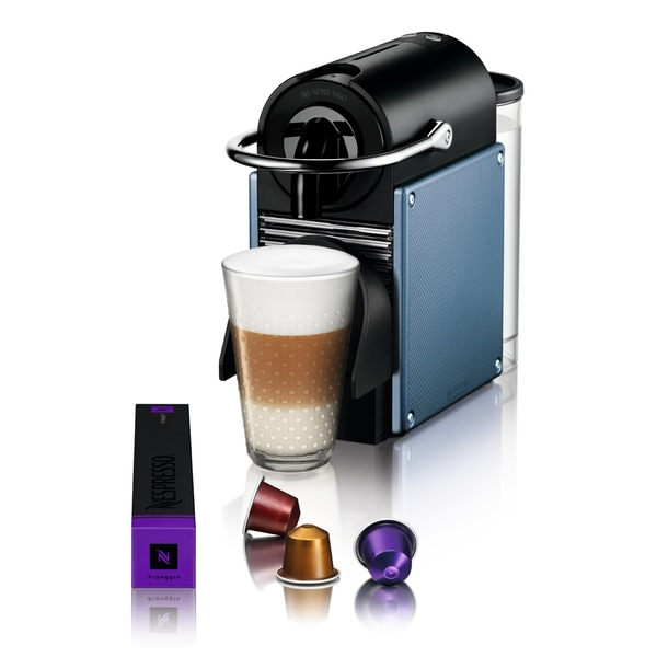 Nespresso D60 Pixie Electric Steel Blue Espresso Maker (Refurbished)