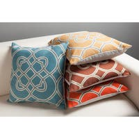 Dallas Geometric Trellis 22-inch Feather Down Decorative Pillow