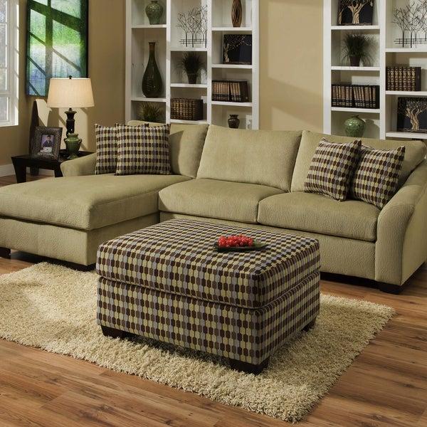 Leather Sofa Repairs Bromley: Shop Simmons Upholstery Nimbus Celedon Sectional Sofa