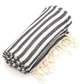 Authentic Pestemal Fouta Charcoal Black Turkish Cotton Bath/ Beach Towel