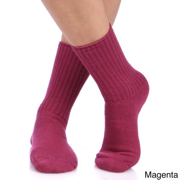 Unisex Alpaca Wool Blend Recreational Socks (Pack of 3)