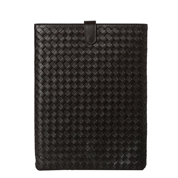 Bottega Veneta Black Intrecciato Nappa Leather iPad Case