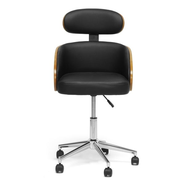 Baxton Studio Kneppe Black Modern Office Chair Free Shipping Today Overst