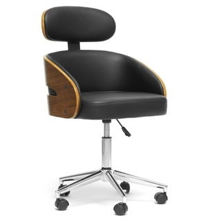 Baxton Studio Kneppe Black Modern Office Chair