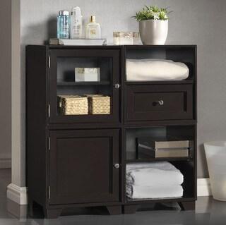 Baxton Studio Alaska Dark Brown Modular Storage Cabinet