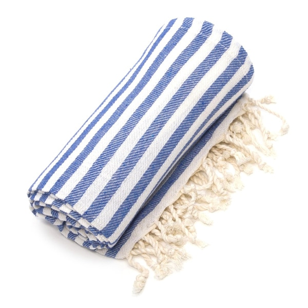 authentic pestemal fouta true blue turkish cotton bath beach towel
