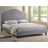 Oliver & James Diana Grey Full-size Scalloped Bed