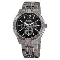 August Steiner Men's Quartz Sport Multifunction Water-resistant Black Bracelet Watch