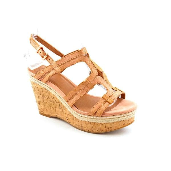 Lucky Brand Women's 'Keena' Leather Sandals - Wide (Size 9.5)