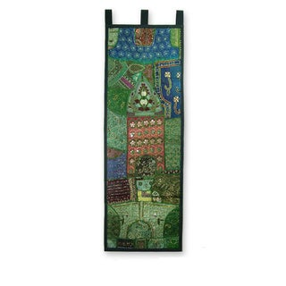 Cotton 'Verdant Land' Wall Hanging  (India)
