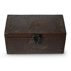 Handmade Sese Wood 'Sankofa Adinkra Bird' Jewelry Box (Ghana)